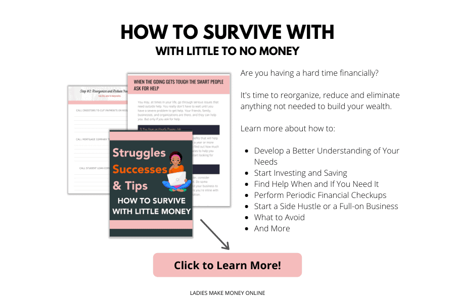 Learn how to survive with little to no money