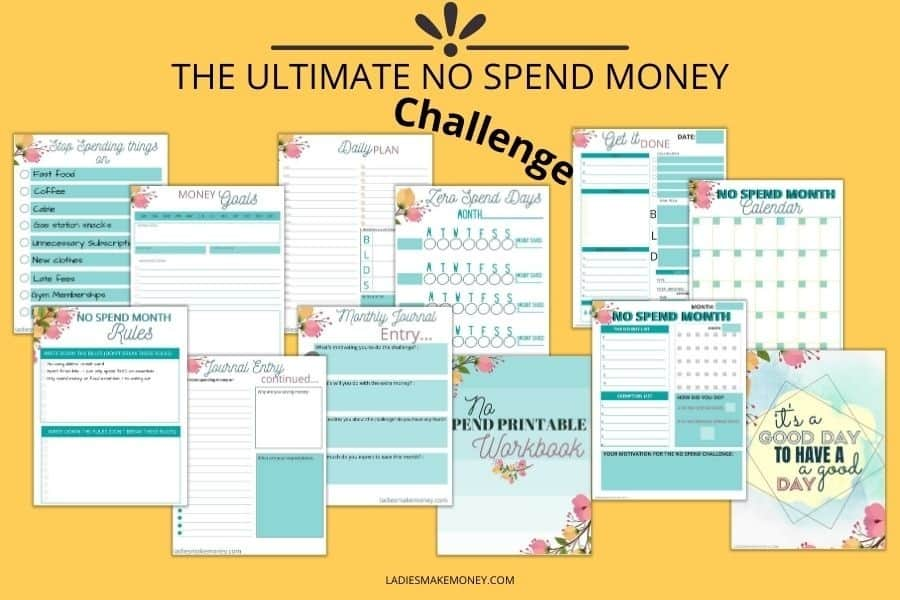 Here is a no spend challenge you can join to help you save money. This is the perfect no spend tracker for those on a budget! Grab the no spend money workbook today! #nospend #nospendchallenge
