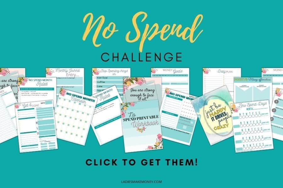 Enjoy our no spend challenge today