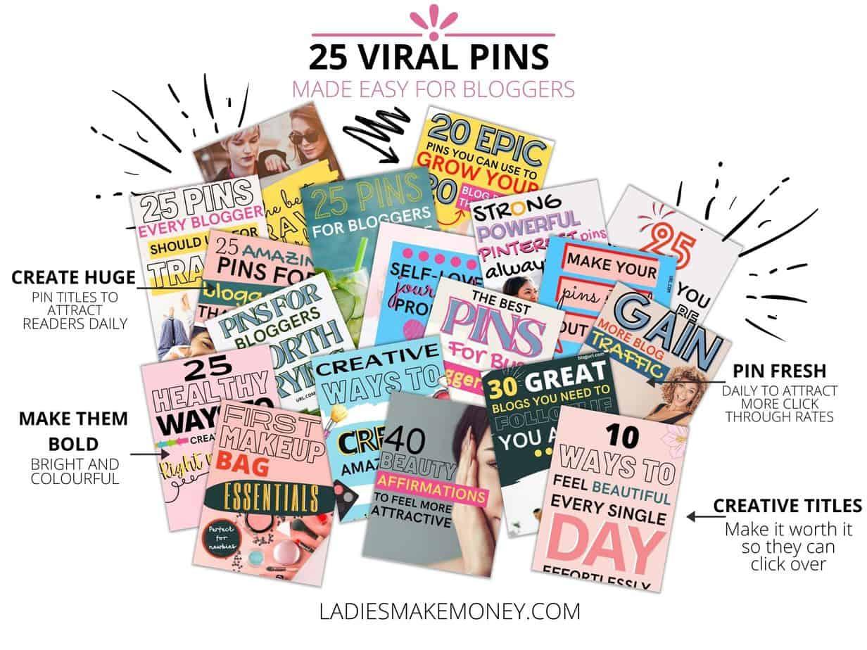 Create viral pins using my pin templates today.