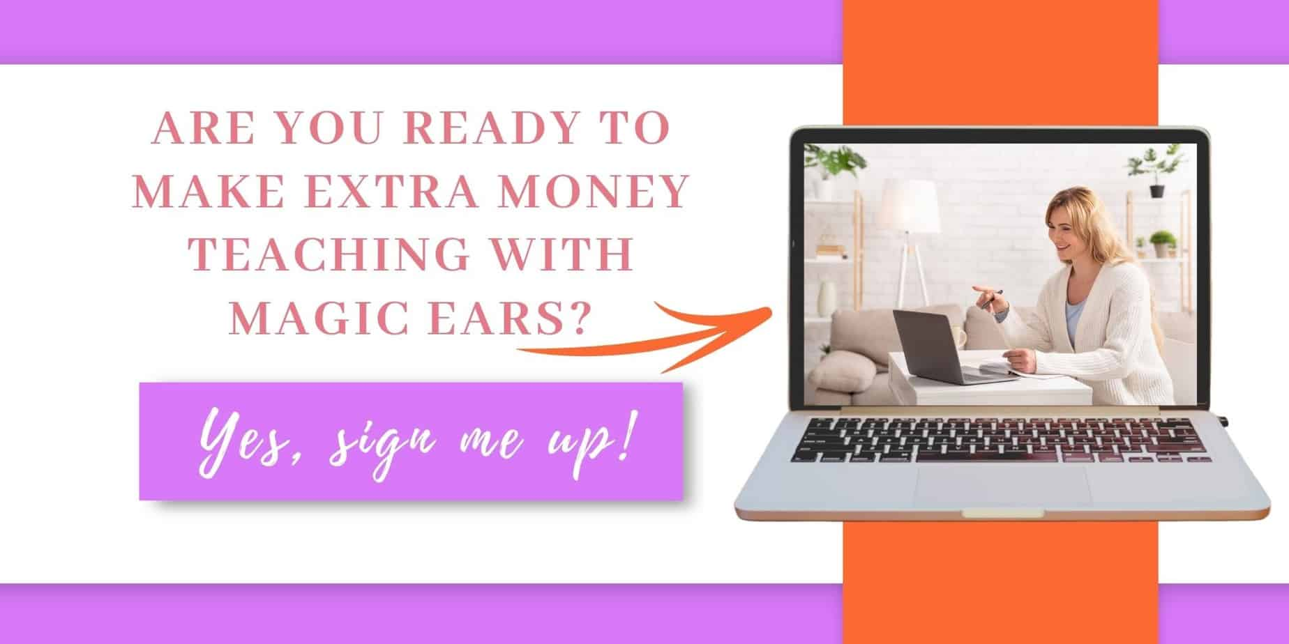 Want tips on teaching English online with Magic Ears? See how this single-mom of 2 earns $26 per hour for Magic Ears. This Magic Ears Review is just what you'll need to give you the confidence to give it a shot. #Workfromhomeideas #StayAtHomeMom