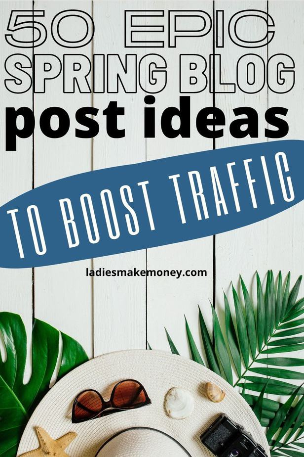 50 Spring Blog Post Ideas For Bloggers. A huge list of Spring blog post ideas for lifestyle blogs: from fashion, food, parenting and the home. Inspiring Spring blog post topics to get you writing! The Spring season is almost here and so it's time to get your posts ready and scheduled for the upcoming months. Here are 50 spring blog post ideas for inspiration if you're stuck in a creative rut. | blog tips | blogging tips | grow your blog traffic | blog content ideas | blog post inspiration | new blogger | blog post headlines #bloggingtips #blogtips #spring