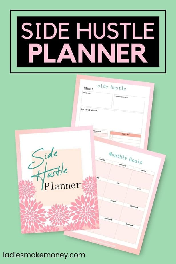 Create a passive income stream using side hustles. 2021 Side Hustle Planner If you've started your side hustle or small business, but need some help to focus on how to achieve your side hustle goals in 2021, you need this planner. I know I struggled to keep track of what I needed and would end up doing busy work, not important work. This 2021 side hustle planner planner has monthly goals, weekly plans, weekly review pages, content planners, income and expense trackers, and more! It's a printable planner so you can start using it straight away.